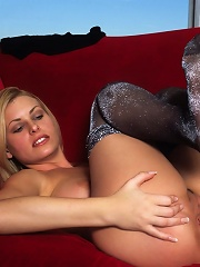 Blonde on Couch