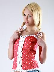 Petite blonde russian teen getting nude